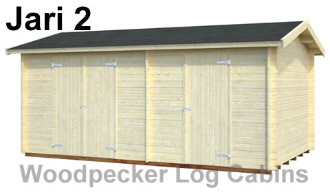 Two room garden storage shed
