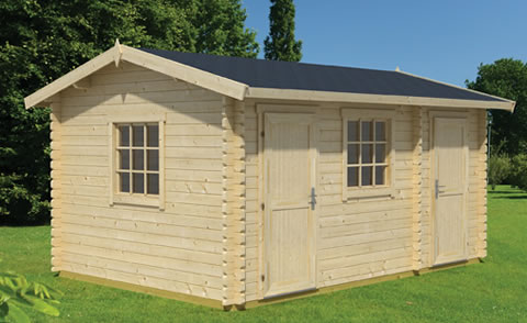 Bora, dual purpose log cabin, garden room and storage