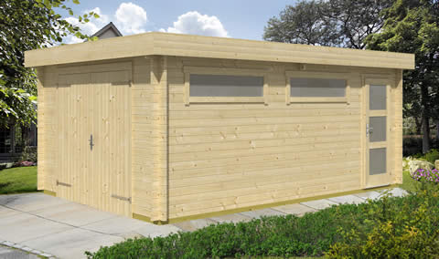 Canberra timber garage - Pent - Low profile roof