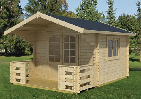 Capri 28 woodpecker log cabins for Chalet cabin kits