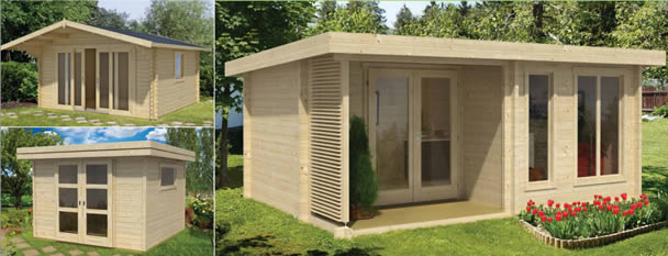 Woodpecker Log Cabins for Sale - Garden rooms