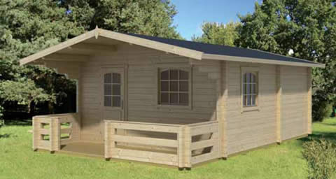 Elba 3 room log cabin with veranda