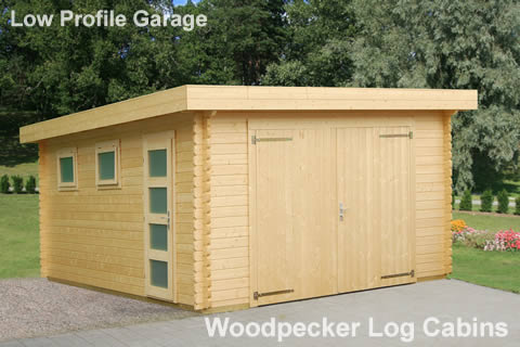 Low Profile Flat Roof Garage