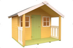 Felix - Wooden Kids Playhouse   1.8m x 1.1m plus verandah   16mm T & G