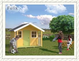 Felix playhouse for children - Woodpecker Log Cabins