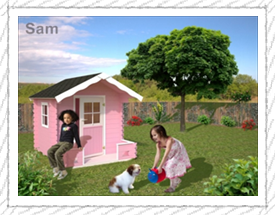 Sam playhouse for children - Woodpecker Log Cabins