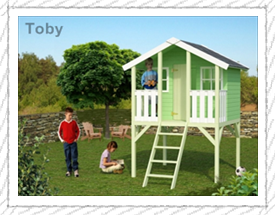 Toby playhouse for children - Woodpecker Log Cabins