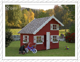 Tom playhouse for children - Woodpecker Log Cabins