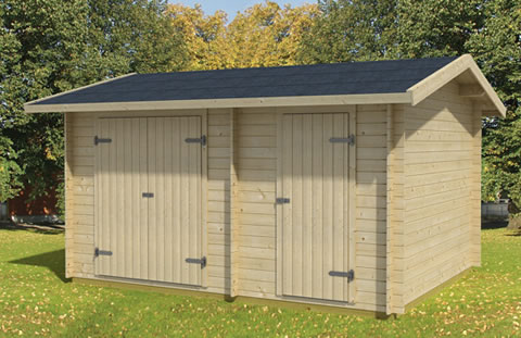 Two room storage shed